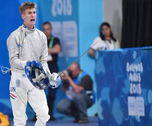 Rabb Krisztián 2018-ban ifjúsági olimpiát nyert Fotó: Szalmás Péter/MOB