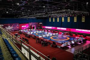 A BOK Sportcsarnokot szépen berendezték, de magyar kvóta még nem ékesíti Fotó: MBSZ