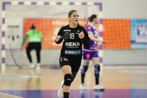 A 18 éves Koronczai Petra  hét gólt lőtt Békéscsabán Forrás: NEKA