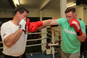 Erdei Zsolt egy semmitől sem félő sportolót ismert meg a 19 éves bokszolóban Fotó: Bodrogi Tamás