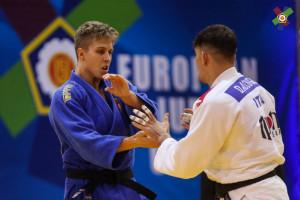 Sáfrány Péter (19) nagyon  nehéz algériai ellenfelet kapott az első körben Forrás: EJU