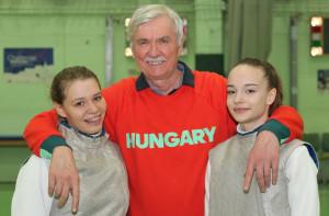 Kalocsai Luca (balra) és Kollár Anna között a mester, Beliczay Sándor Fotó: Bodrogi Tamás