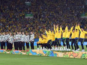 A riói olimpián a házigazda brazilok a németeket győzték le a fináléban Forrás: AFP