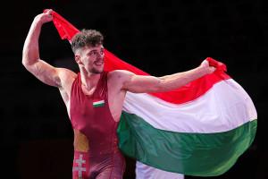 Váncza István (67 kg) szerezte a magyar csapat egyetlen aranyérmét Szkopjéban Forrás: Kadir Caliskan / UWW