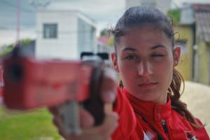 Blanka fejlődése a lövészetben is látványos Fotó: Bodrogi Tamás
