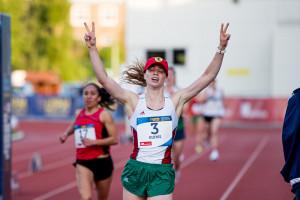 Gulyás Michelle bronzérmes a székesfehérvári világkupadöntőn Fotó: Buza Virág