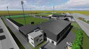 A tervek szerint így néz majd ki a pécsi sportkomplexum Forrás: pvsk.hu