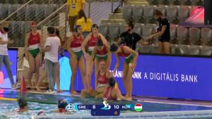 Végig vezetve nyert a magyar csapat a görögök ellen Forrás: MVLSZ