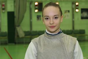 Kollár Anna a serdülő tőrözők között is országos bajnok lett Fotó: Bodrogi Tamás