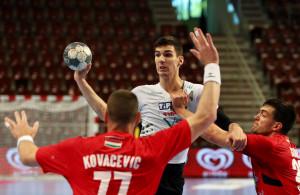 Fazekas Gergő a legkevésbé sem illetődött meg az NB I-es riválisokkal szemben Forrás: VKKFT Veszprém