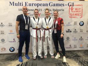 Mindkét Márton lány aranyérmet nyert Szófiában Forrás: wtftaekwondo.hu