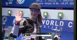 Mészáros Eszter győzött az eszéki világkupaversenyen Forrás: ISSF
