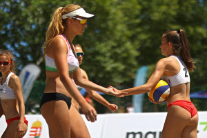 A felnőtt országos bajnoki címvédő, Vecsey Fanni (18) az újabb aranyéremre tör Forrás: Beach Hungary Volleyball