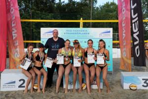 Gödöllői lányok (és a szakvezető, Karádi Zoltán) az országos bajnoki dobogó valamennyi fokán Forrás: GRC