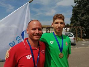 Kovács Seres Hunor nyerte az egyik magyar aranyat a párizsi junior Eb első napján Forrás: MÚSZ