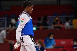 Salim Omar (58 kg) az ötödik helyen végzett Tokióban Fotó: Czeglédi Zsolt / MTI