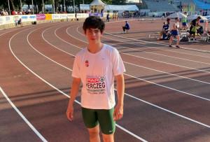Herczeg György az U18-asok idei legjobb eredményét dobta meg Tallinnban Fotó: Kovács Zoltán/MASZ