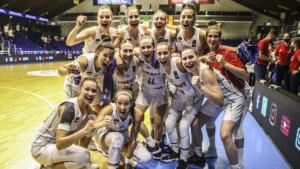 A harmadik mérkőzését is megnyerte az U20-as női válogatott Sopronban Fotó: Tóth Zsombor / FIBA.Basketball