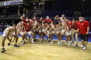 Kovács Adrián csapata 55 pontos különbséggel verte az észak-macedónokat az elődöntőben Fotó: Tóth Zsombor / FIBA.Basketball