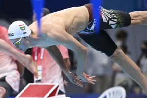 Kós Hubert ismét a medencében Fotó: Derencsényi István/MÚSZ