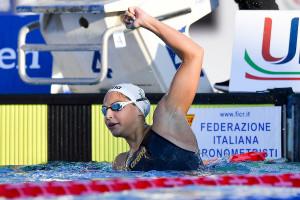 Pádár Nikoletta nyerte a magyar csapat egyetlen egyéni aranyérmét Rómában Fotó: G. Scala/LEN