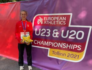 Varga Gréta az egyetlen magyart érmet szerezte az U20-as Eb-n Forrás: atletika.hu