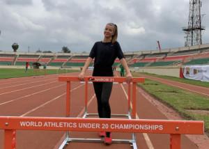 Tóth Anna bronzérmes 100 gáton a kenyai junior vb-n  Forrás: Tóth Anna / Instagram