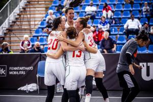 A magyar lányok a harmadik helyen zártak a hazai rendezésű 3x3-as U18-as vb-n Forrás: FIBA.Basketball
