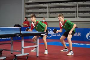 Szántosi Dávid és Lei Balázs párosa a negyeddöntőig jutott Varasdon Forrás: ETTU