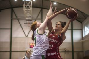 Kuncz Petra a magyar csapat legeredményesebbjeként 18 ponttal zárt az írek ellen Forrás: FIBA.Basketball