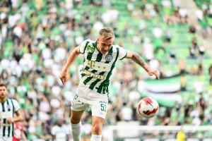 A 18 éves Csontos Dominik először kezdett a Ferencvárosban Forrás: FTC