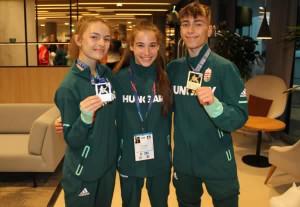 Balról: Hecker Bojána, Fodor Amira, Dévényi Bence Forrás: Magyar Karate Szövetség