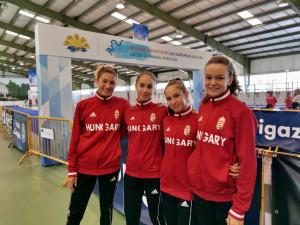 Mind a négy U17-es magyar lány a döntőben Forrás: MÖSZ