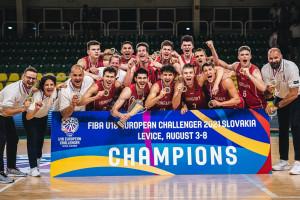Pethő Ákos U18-as válogatottja is diadalmaskodott a maga Challenger-tornáján Léván Forrás: FIBA. Basketball
