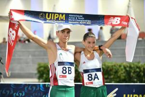 Tamás Botond és Bauer Blanka is maradandót alkotott az U17-es vb-n  Fotó: UIPM / Filip Komorous