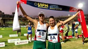 U17-es világbajnok a Bauer  Blanka, Tamás Botond vegyes váltó Forrás: MÖSZ
