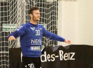 Palasics Kristóf sok nagy védést mutatna be ebben a szezonban Fotó: Csonka Tamás/NEKA