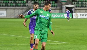 A Paksi FC 20 éves játékosa, Szabó Bálint az elős NB I-es gólját szerezte Forrás: Paksi FC