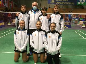 A magyar küldöttség a Szlovéniában zajló U17-es Eb-n Forrás: MTSZ