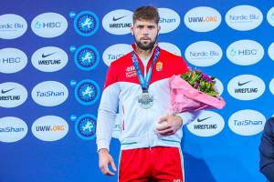 A 21 éves Szőke Alex a tokiói ötödik helye után ezüstérmes lett az oslói felnőtt-vb-n Forrás: UWW